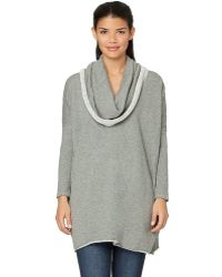 Yummie By Heather Thomson - Loop Back French Terry Dropped Shoulder Cowl Neck Pullover - Lyst
