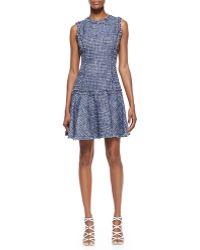 Michael Kors Dropskirt Tweed Dress - Lyst