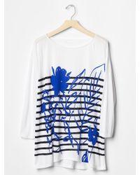 Gap Floral Stripe Tunic - Lyst