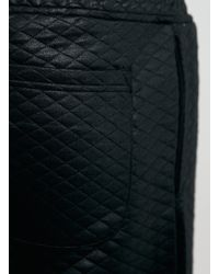 LAC - Bk Coated Diamond Quilted Short - Lyst