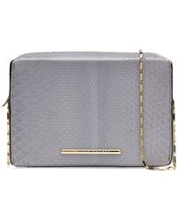 Roland Mouret Python Leather Shoulder Bag - Lyst