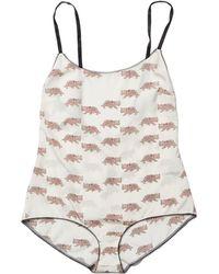 Morgan Lane | Nina Teddy In Baby Leopard Ivory | Lyst