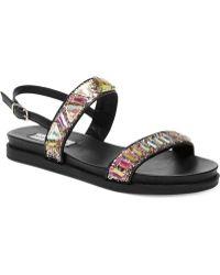Steve Madden Women'S Feastt Slingback Footbed Sandals - Lyst