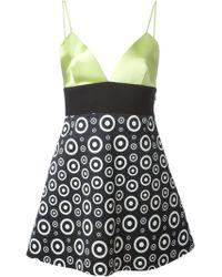 Fausto Puglisi Printed Empire Waist Mini Dress - Lyst
