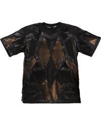 Ktz Patchwork Mesh T-Shirt - Lyst
