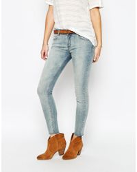 SuperTrash - Paradise Cropped Jeans With Frayed Ankle - Lyst