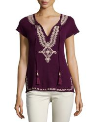Calypso St. Barth Solney Embroidered Cashmere Sweater - Lyst