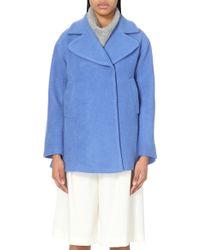 Mo&co. - Oversized Wool-blend Coat - Lyst