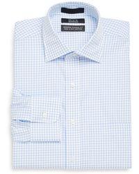 Saks Fifth Avenue Black Label - Modern Classic-fit Windowpane Dress Shirt - Lyst