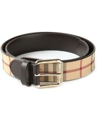 Burberry Classic Check Belt - Lyst
