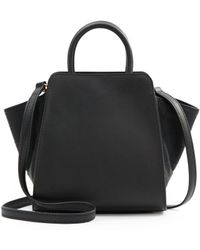 Zac Zac Posen Eartha Matte & Embossed Leather North/South Mini Satchel - Lyst