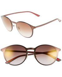 Gucci 52Mm Retro Sunglasses brown - Lyst