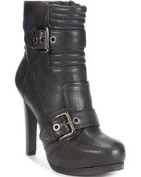 Nine West Disheveled High Heel Platform Booties - Lyst