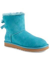 Ugg 'Mini Bailey Bow' Boot blue - Lyst