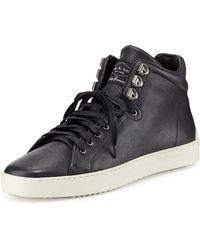 Rag & Bone Kent Leather Midtop Sneaker - Lyst
