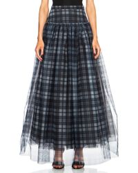Haute Hippie Plaid Mesh and Crinoline Poly Skirt - Lyst