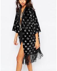 Jaded London | Velvet Kimono With All Over Glitter Star Print | Lyst
