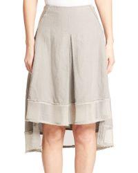 Elie Tahari Florence Skirt gray - Lyst