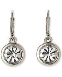 Tahari - Rhodium-Tone Earrings - Lyst