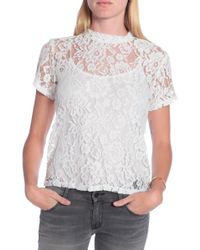 Alexis Issac Lace Top - Lyst