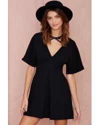 Nasty Gal Carrie Pleated Dress - Black - Lyst