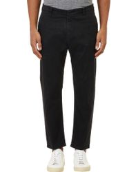 Lot78 Twill Cropped Chinos - Lyst