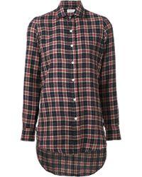 Salvatore Piccolo Blue Check Shirt - Lyst