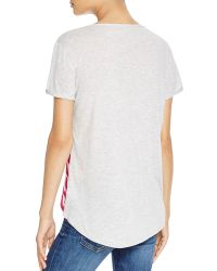 Two By Vince Camuto - Print Panel Jersey Tee - Lyst