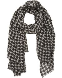 Barneys New York Gray Houndstooth Scarf - Lyst