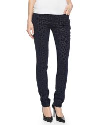 True Religion Halle Leopard-print Twill Slim Pants - Lyst