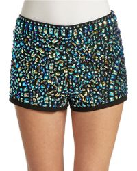Guess Embellished Hot Shorts - Lyst