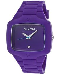 Nixon Mens Player Purple Rubber and Dial - Lyst