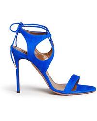 Aquazzura 'Colette' Lace-Up Sandals blue - Lyst