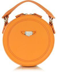 Carven - Orange Leather Round Clutch - Lyst