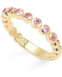 Lagos - 18k Gold And Pink Sapphire Stackable Ring - Lyst