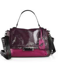 Diane von Furstenberg Highline Lizard-embossed Top-handle Bag - Lyst