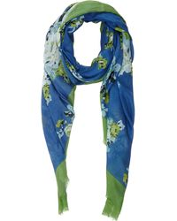 Barneys New York Floral Bouquetprint Scarf - Lyst