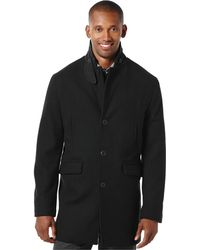 Perry Ellis - Textured Herringbone Overcoat - Lyst