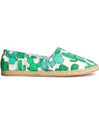 H&M Espadrilles green - Lyst