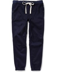Beams Plus Tapered Cotton-Blend Trousers - Lyst