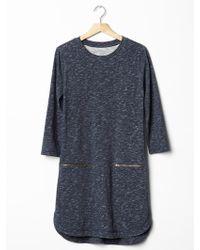 Gap Zip-pocket Shirttail Dress - Lyst
