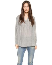 Nili Lotan - Normandy Shirt Pin Stripe - Lyst