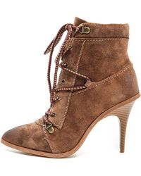 Joe's Jeans - Austyn Lace Up Booties - Black - Lyst