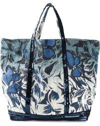 Vanessa Bruno Floral Print Sequin Embellished Tote - Lyst