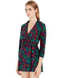 Diane von Furstenberg | Celeste Silk Jersey Wrap Romper | Lyst