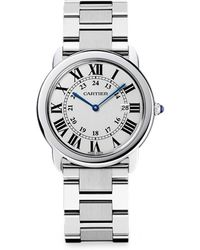 Cartier Ronde Solo Large Stainless Steel Bracelet Watch - Lyst