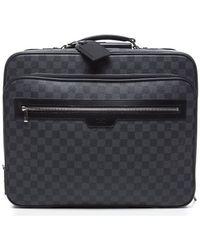 Louis Vuitton Preowned Damier Graphite Pilot Case Bag - Lyst