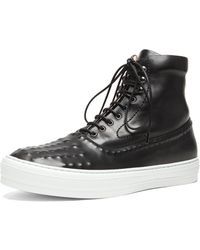 Alexander McQueen Illinois High Top Leather Sneakers - Lyst