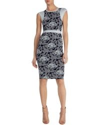 Karen Millen Bandage Knit Dress - Lyst