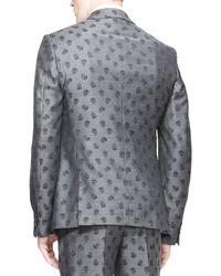 Alexander McQueen Allover Skullprint Jacket Gray - Lyst